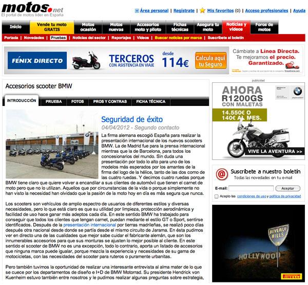 BMW C 600 Sport y C 650 GT opniones Motos.net web