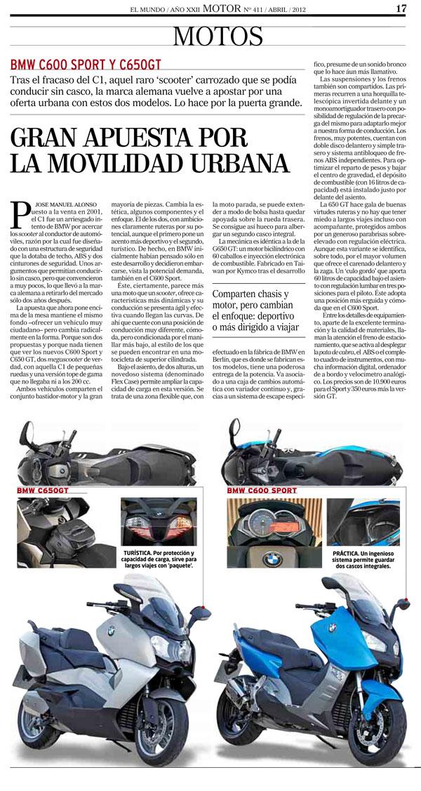 BMW C 600 Sport y C 650 GT opniones El Mundo web