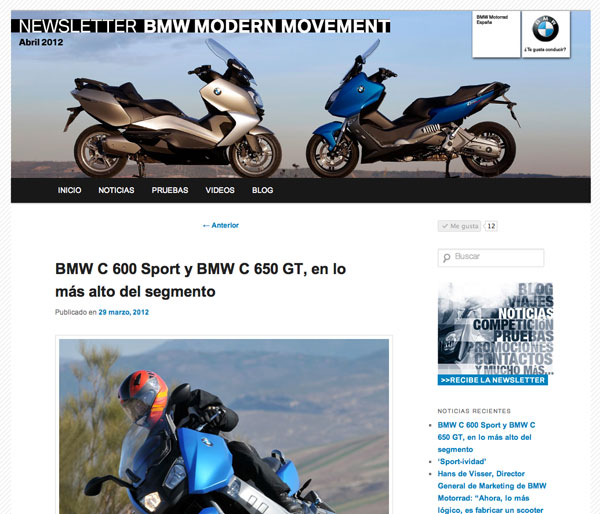 BMW C 600 Sport y C 650 GT opniones Modern Movement web